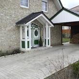 Holzrahmenhaus Eingang